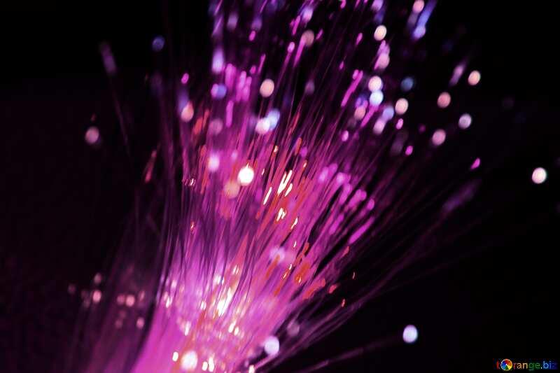 Purple color. Optical fiber. №505