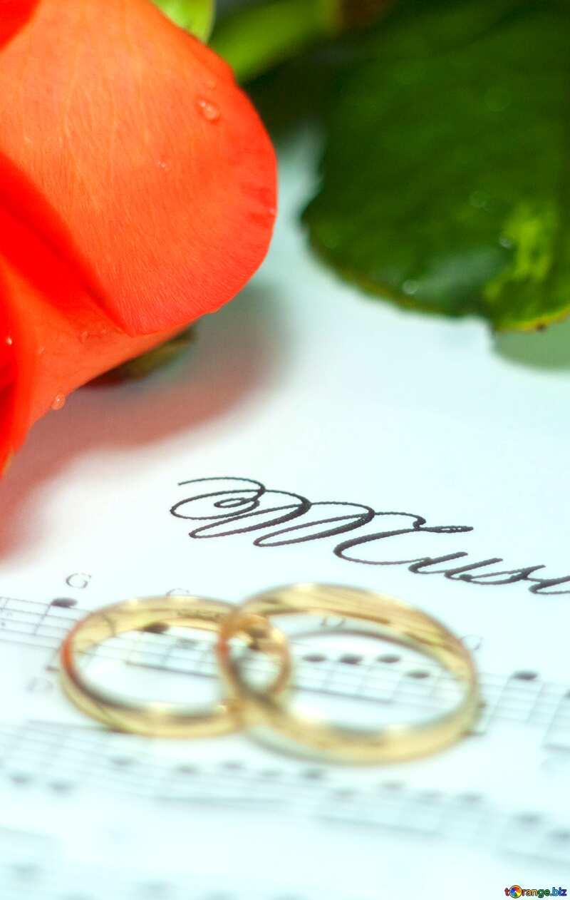 wedding music ring rose №7230