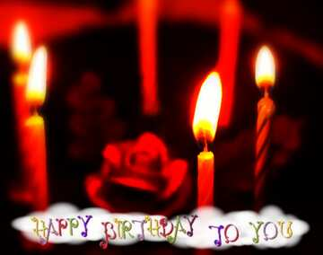 The effect of the hard dark. Very Vivid Colours. Blur frame. Fragment. Happy Birthday card.