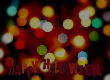 The effect of hard light. Blur frame. Happy halloween.