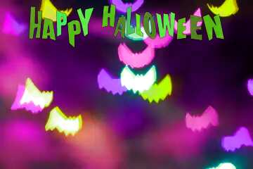 The effect of light. Happy halloween.