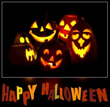 The effect of the dark. Vivid Colors. Blur dark frame. Happy halloween.