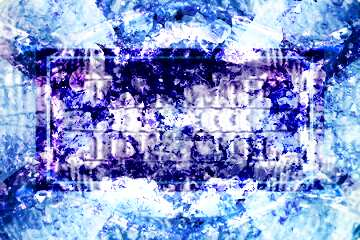 Effect upside down. The effect of contrast. The effect of stained bright blue.