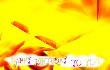 The effect of the mirror. Very Vivid Colours. Fragment. Happy Birthday card.