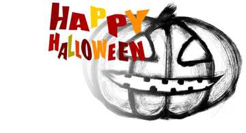 The effect of a white background on the left. Happy halloween.