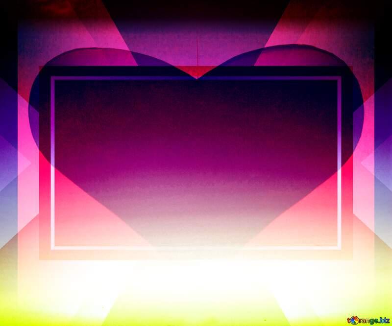 Sunset Gradient heart love  background №16062