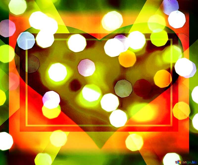 Christmas love  heart frame responsive design background №24617