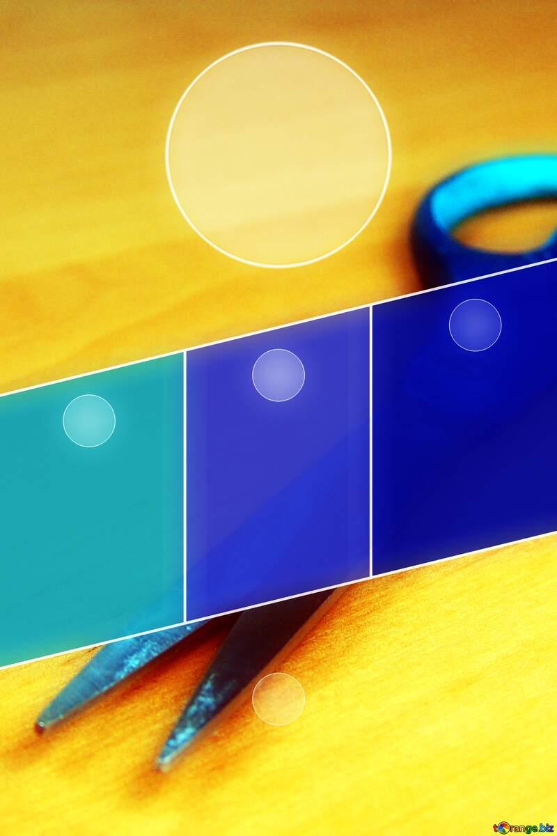 Scissors Business brochure flyer design layout template №8995