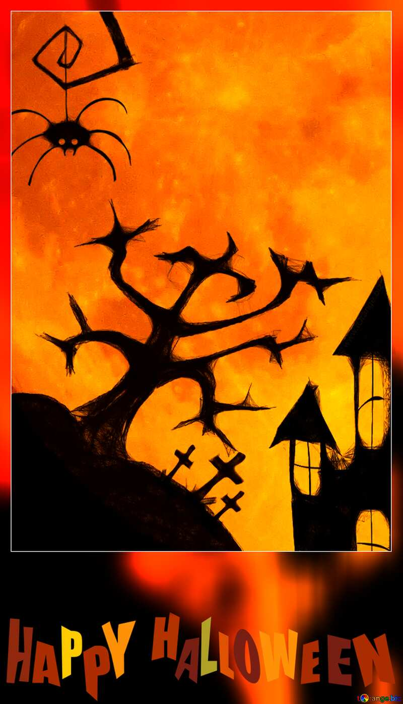 Halloween blank card template №40469