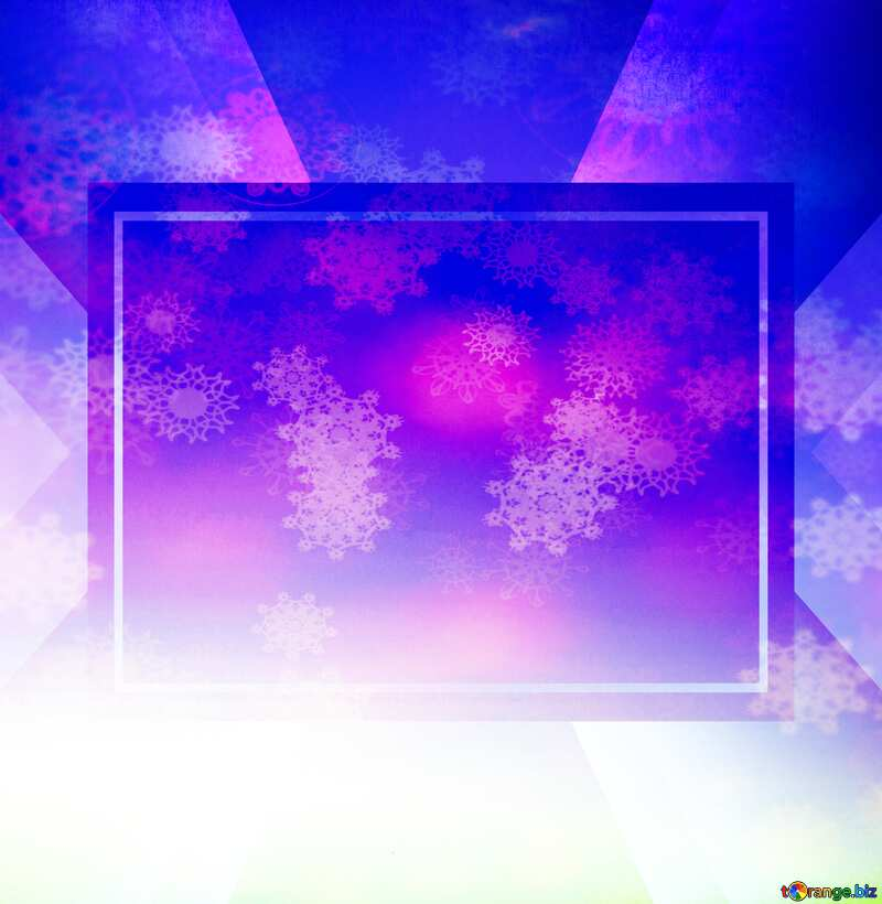 Sunset Gradient Snowflakes blue №16062