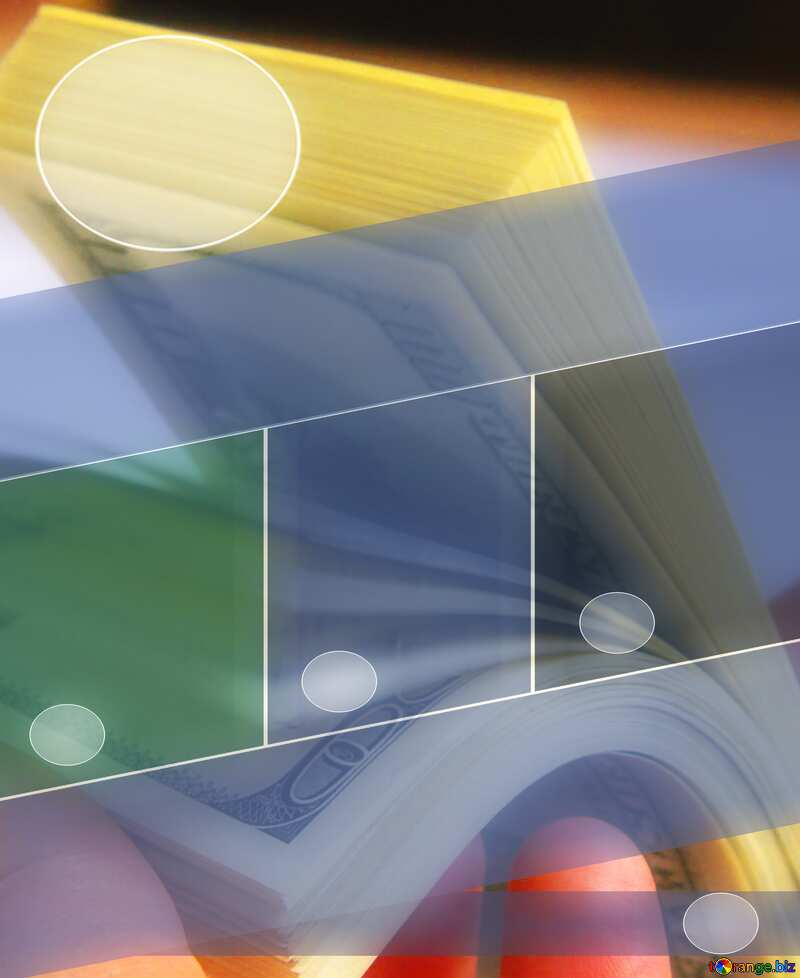 Money  dollars Blue Business brochure flyer design layout template №1510