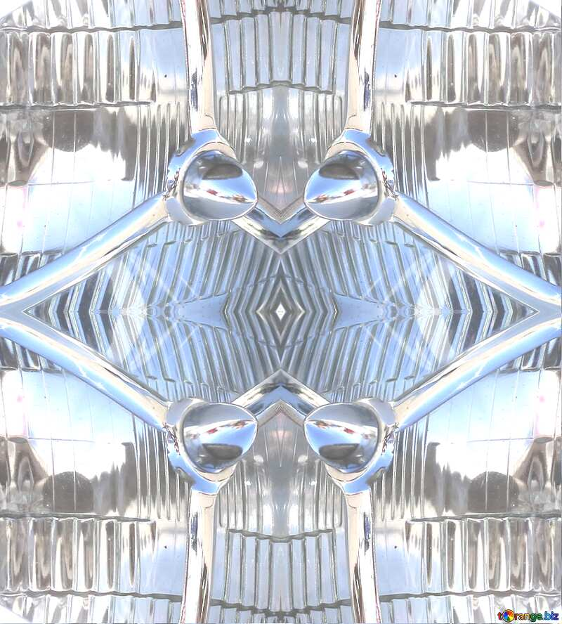 pattern glass metal №44370