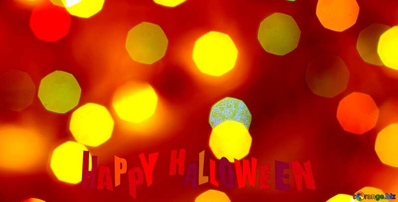 happy halloween glitter bokeh  background №24617