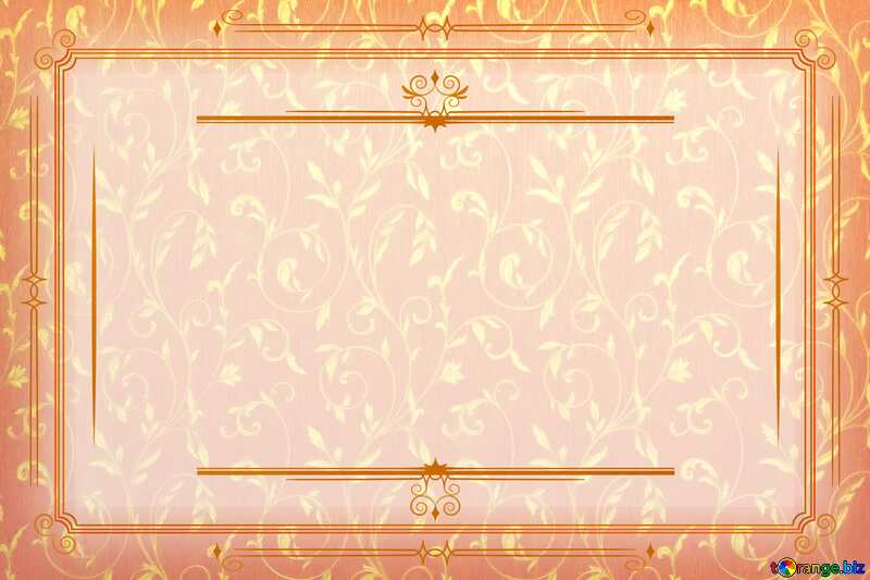 Red gold rich Ancient paper Vintage frame retro clip art №36317