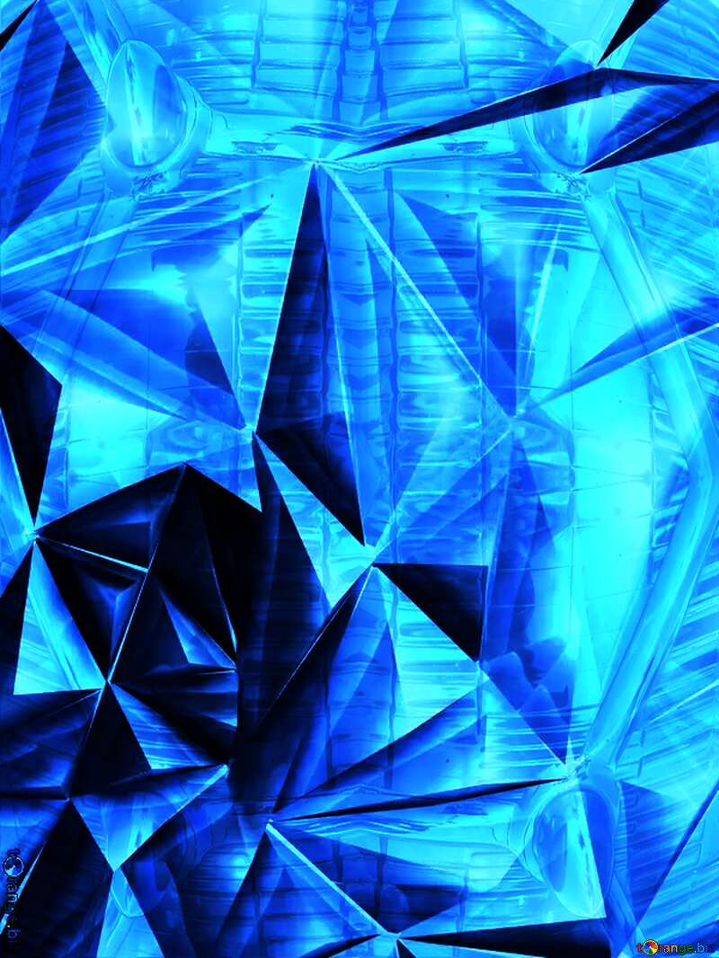 Polygon background retro car pattern glass metal Blue №51586
