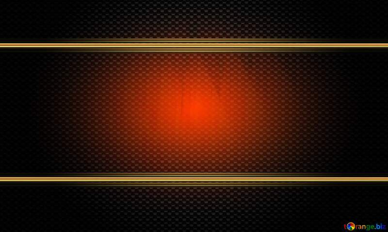 Futuristic Technology Red carbon gold frame №51526