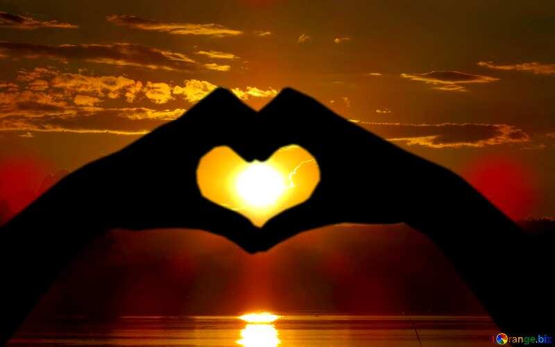 love heart Water and Sun №36385