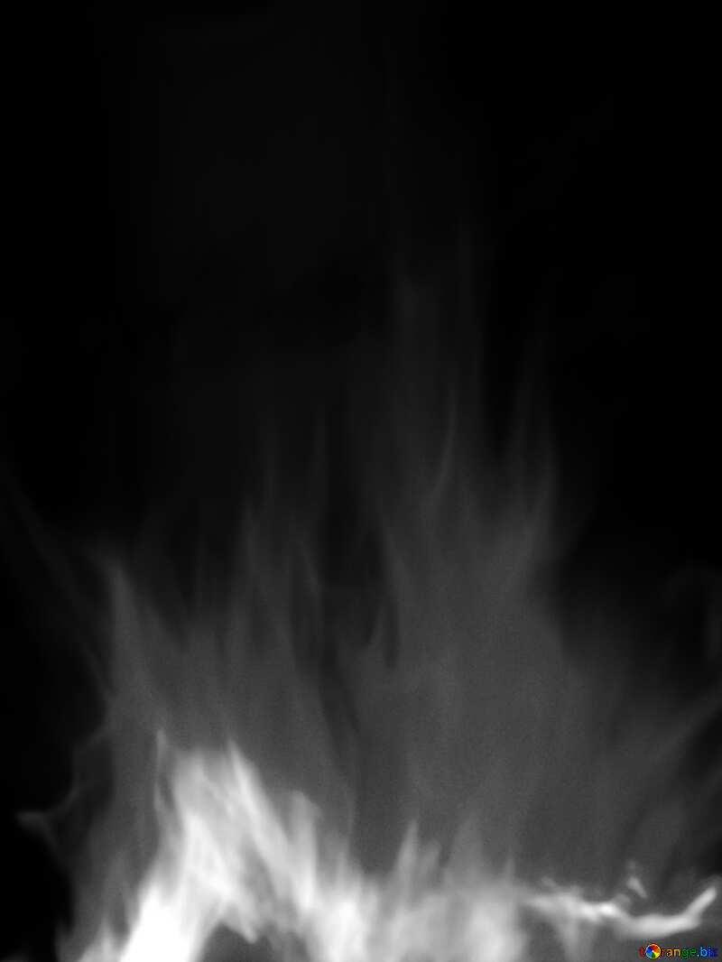 black white Fire №9546