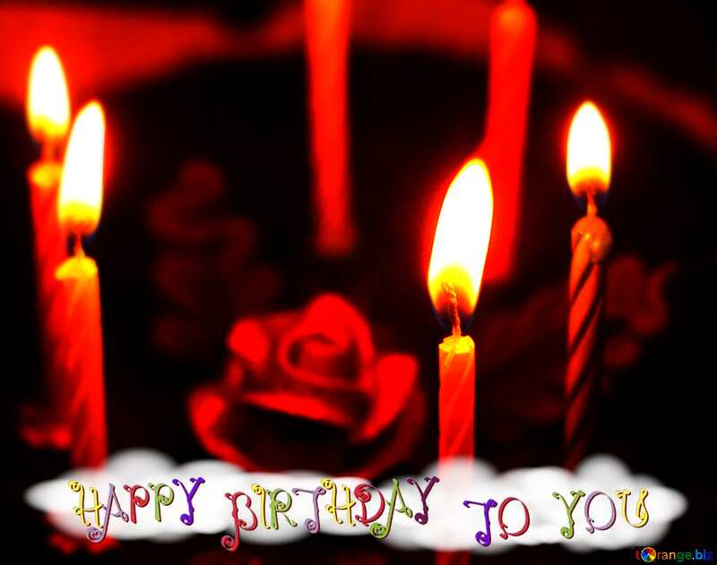 Happy birthday congratulation  Cake with candles background №27009