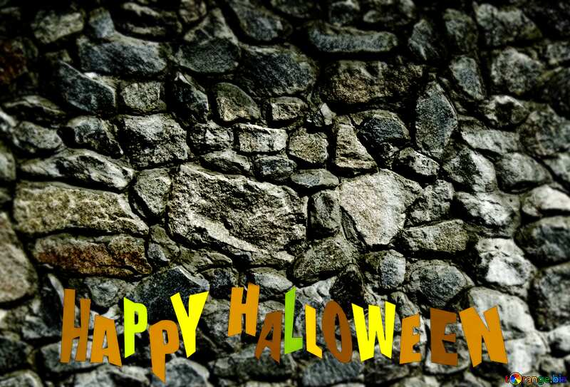 Texture.Stone wall. happy halloween №12748