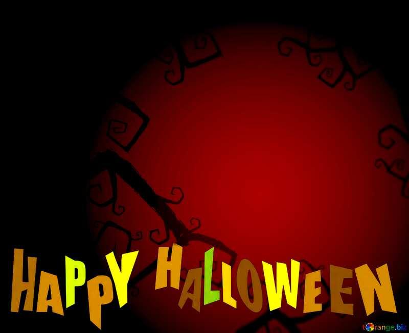 Halloween happy dark  background №40593