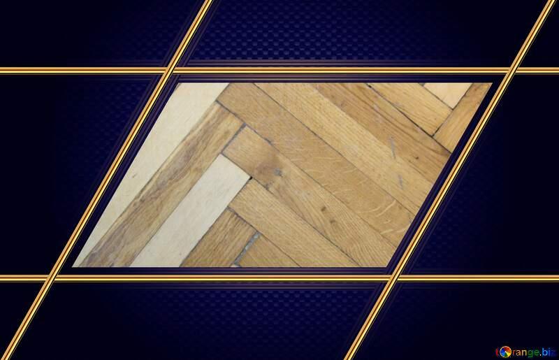 Parquet  wood  Carbon gold frame hi-tech №10858