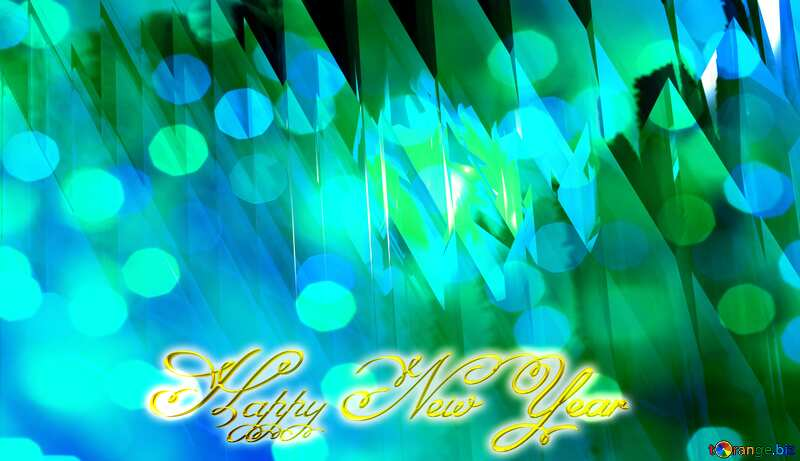 Blue futuristic abstract background. Inscription text Happy New Year №51524