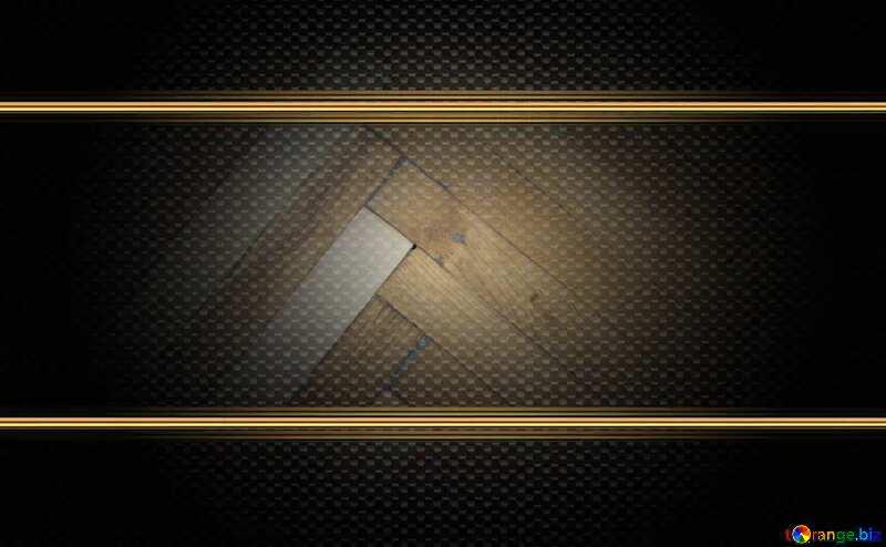 Parquet  Texture carbon gold frame №10858