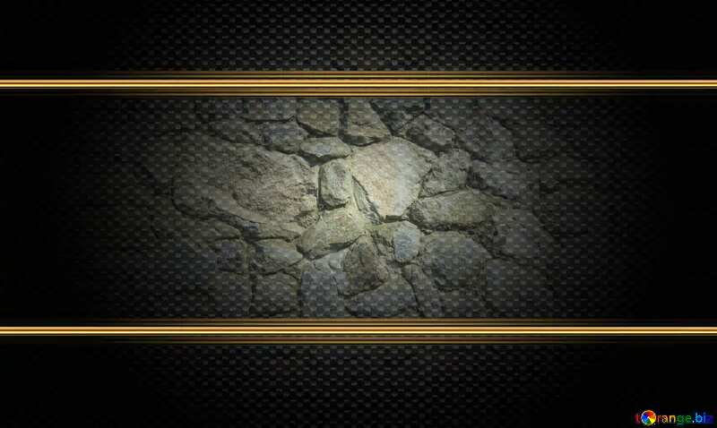 Texture.Stone wall. carbon gold frame №12748