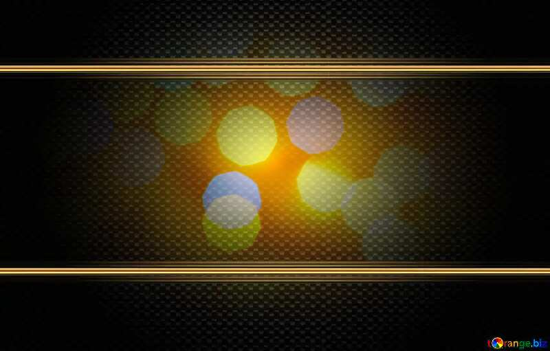Background of bright lights carbon gold frame №24618