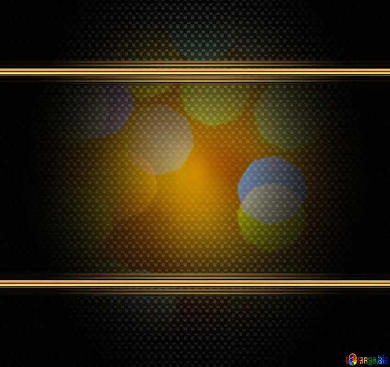 Background of bright lights carbon gold frame №24618
