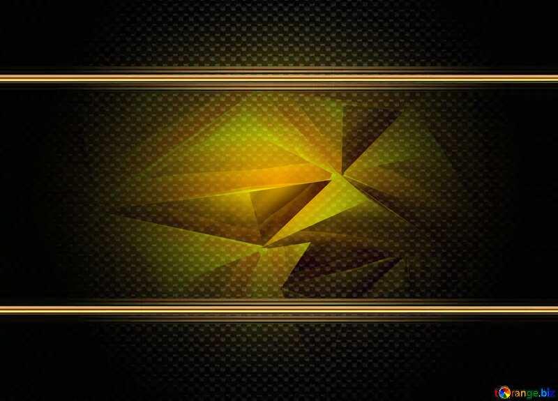 Polygon gold background carbon frame hi-tech №51586