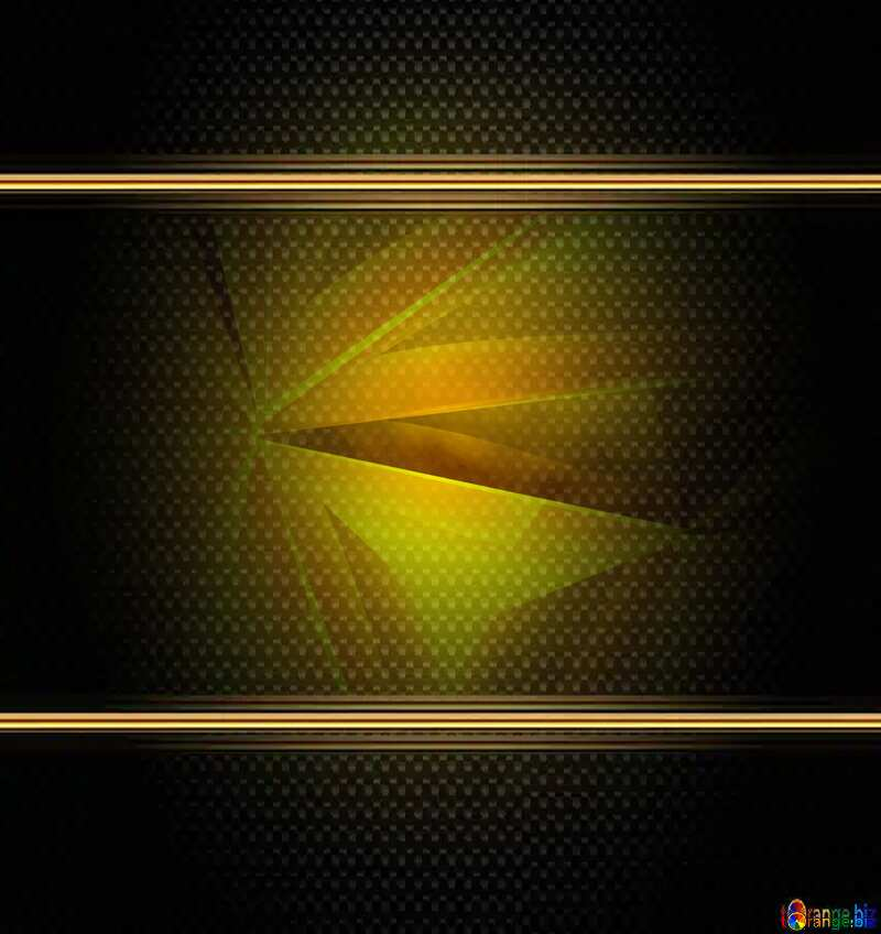 Polygon gold background carbon frame image №51586