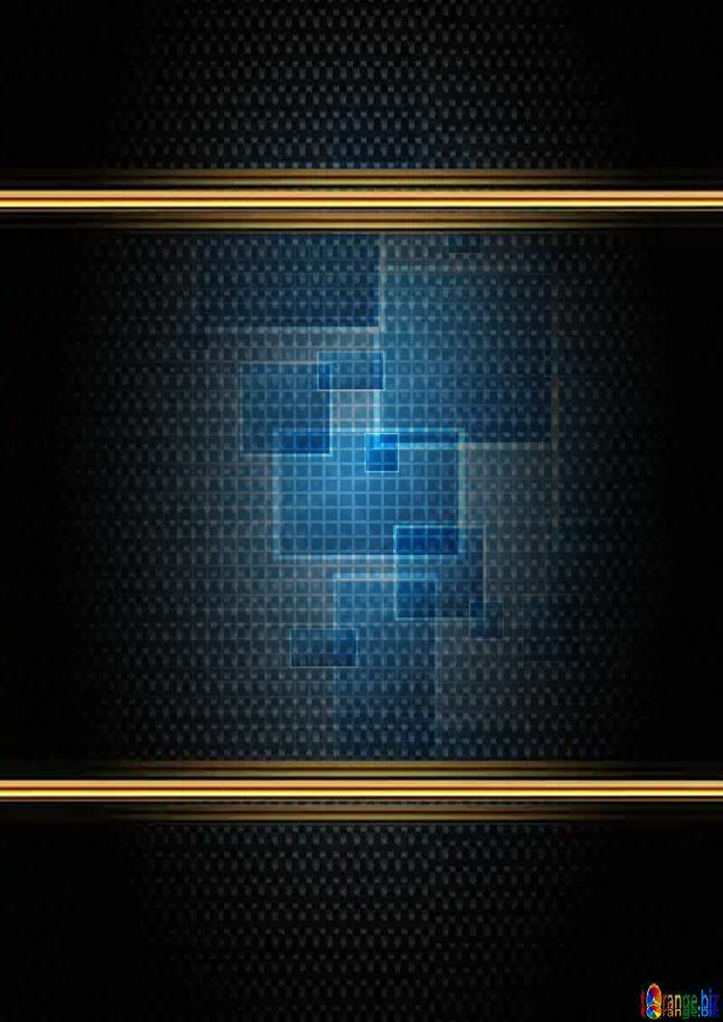 Technology tech background grid cell line texture carbon gold frame pattern №49678