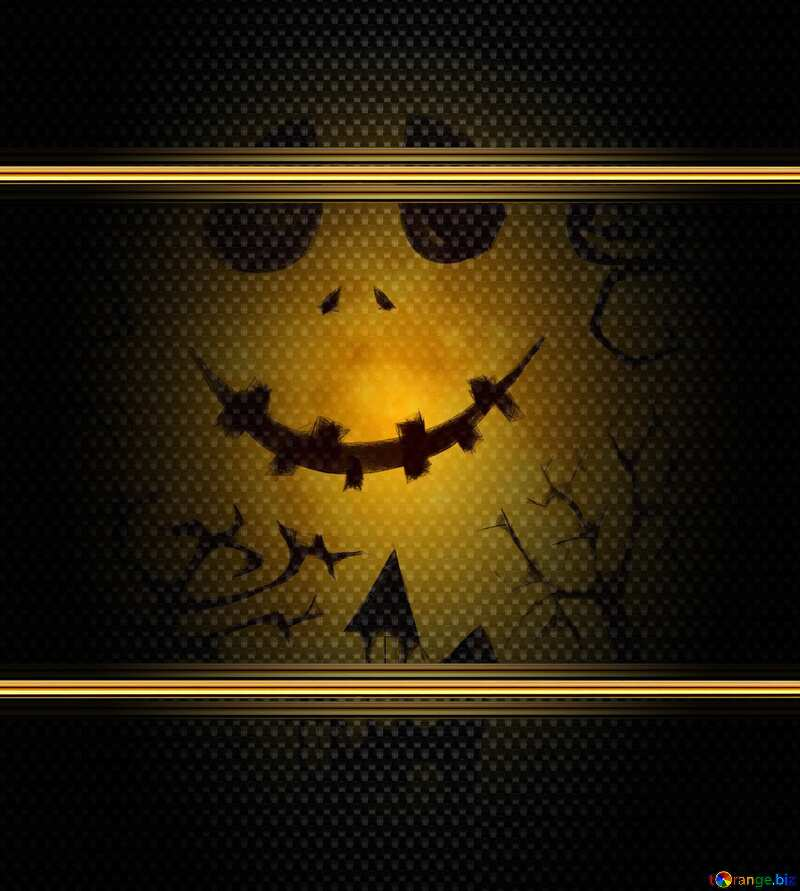 Halloween gold frame carbon №40468