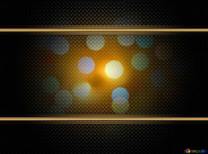 glitter bokeh  gold carbon frame №24617