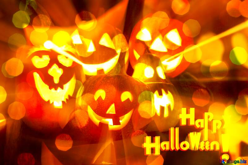 Halloween bokeh background №5934