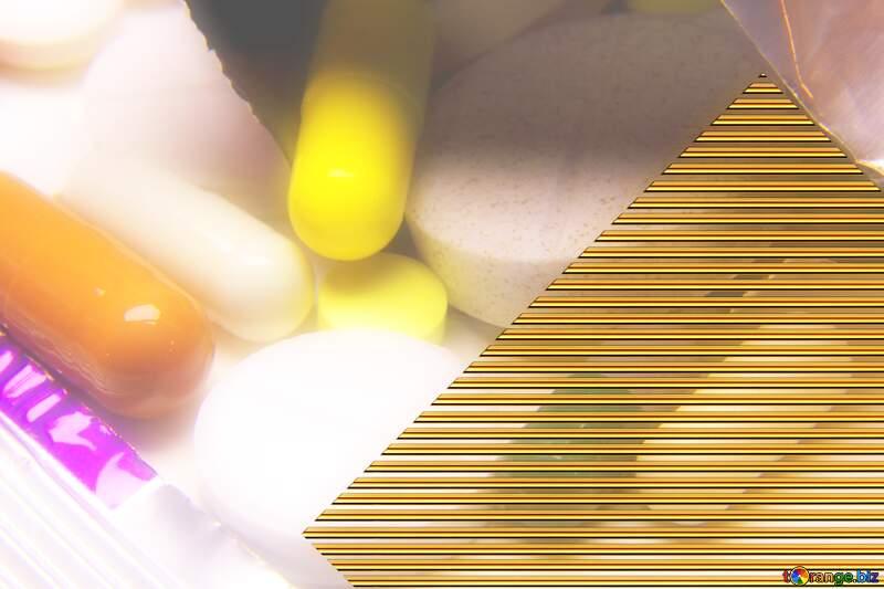 Tablets lines Gold template frame №18833