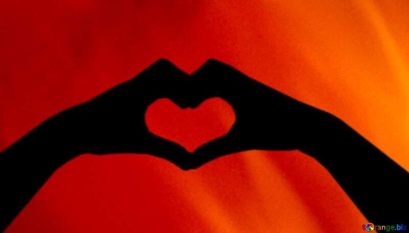 hands heart love  Fire Background №9546