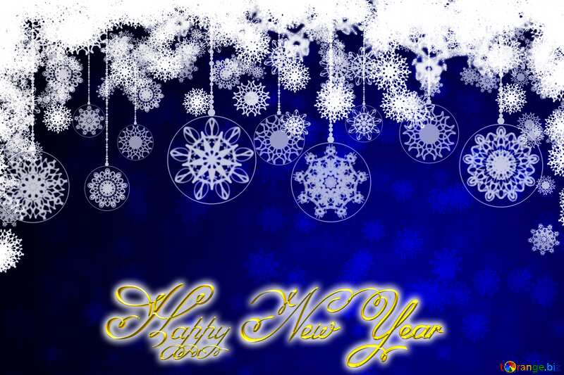 Clipart Christmas Inscription text Happy New Year 3d gold №40711