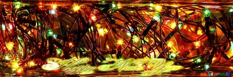 New Year Happy lights garland №41320