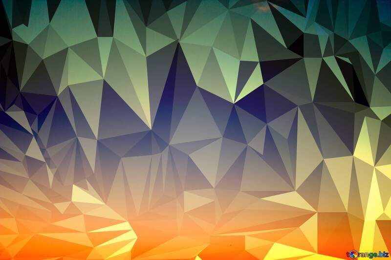 Sunset Gradient Polygon background №16062