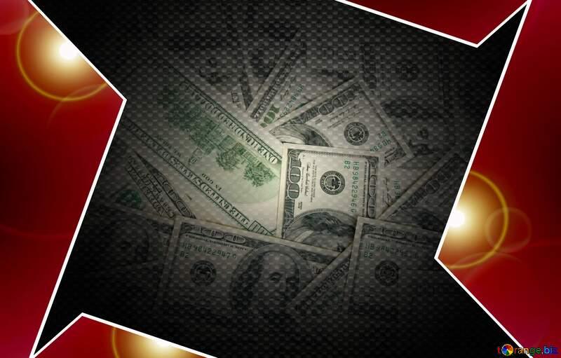 Dollars Red carbon hi-tech template №1506