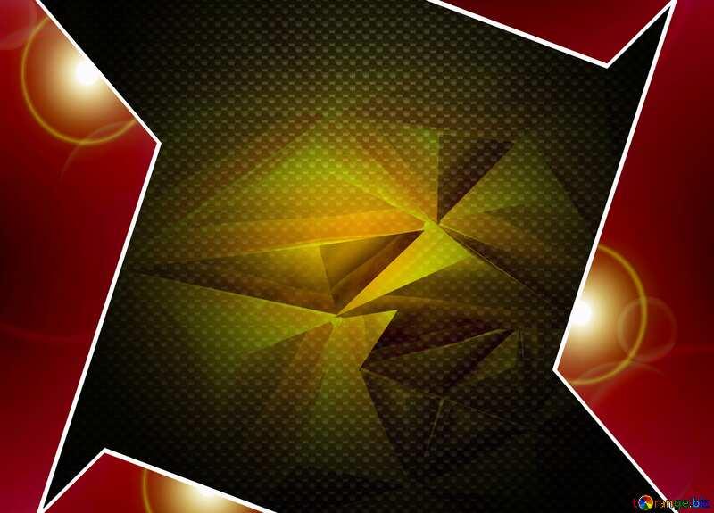 Polygon Red hi-tech template №51586