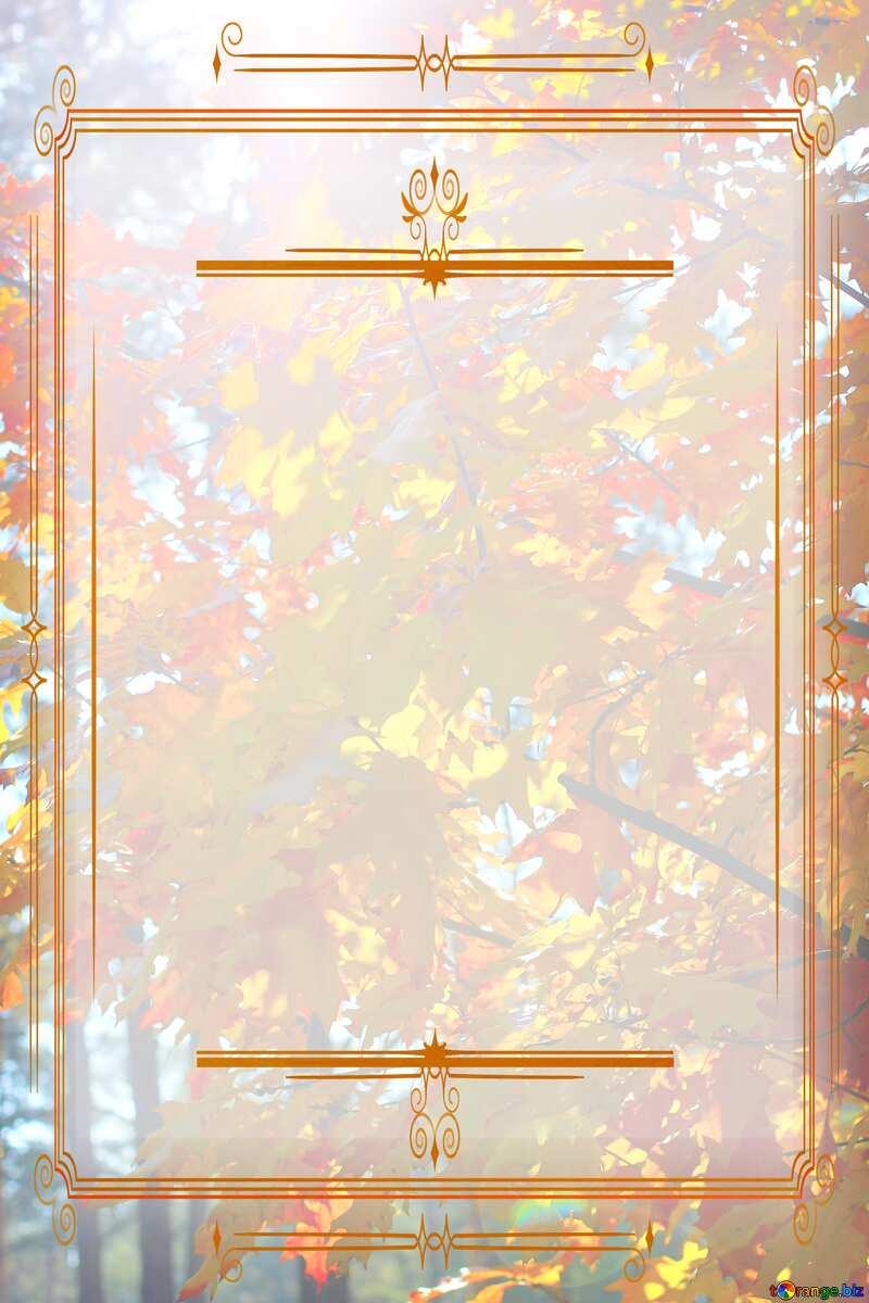 Autumn forest Vintage frame retro clip art template №38543