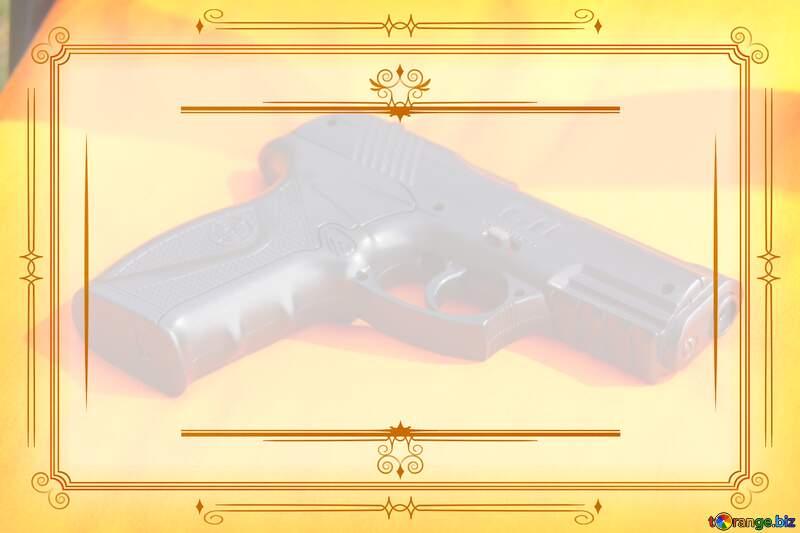 Gun  Vintage frame retro clipart image №5451