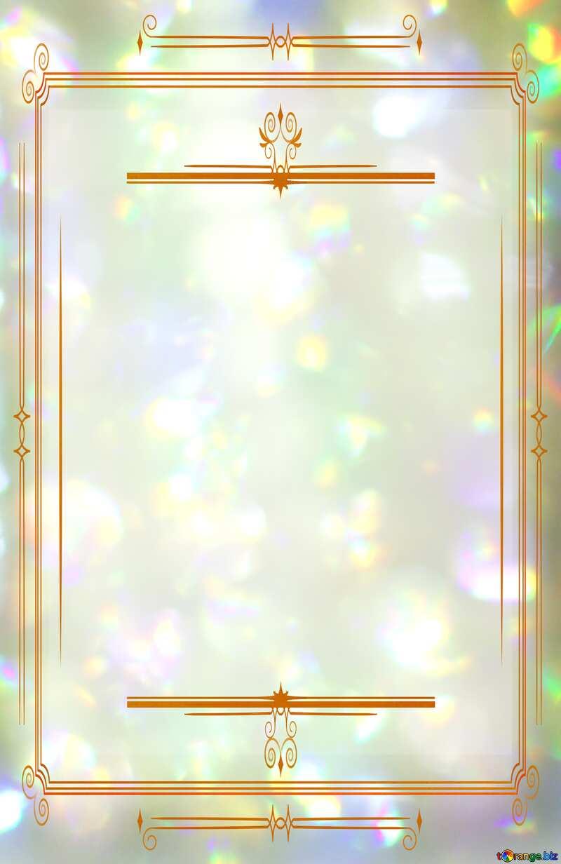 Color blurred background Vintage frame retro clip art №48882