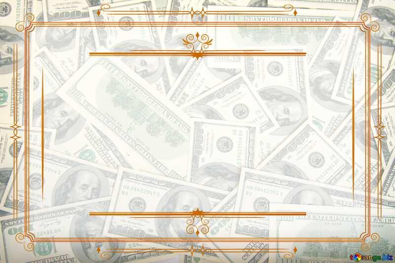 Money Dollars Vintage frame retro clip art №1506