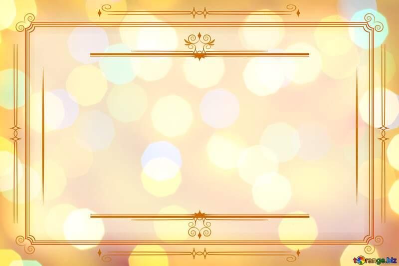 Background of bright lights Vintage frame retro clip art №24618