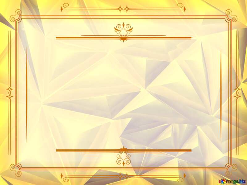 Polygon gold background Vintage frame retro clip art №51586